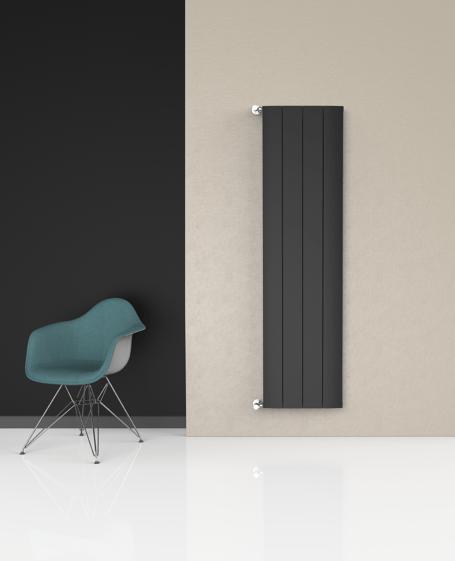 Radiador vertical negro Mithos